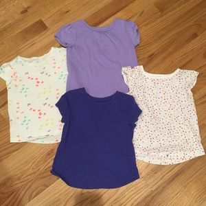 Lot of 4 toddler tees, H&M, Old Navy